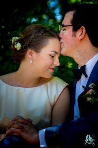 Emotion während des Brautpaarshootings